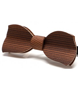 Bow tie in wood, Butterfly in smoked Larch
