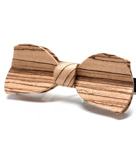 Bow tie in wood, Butterfly in Zebrano