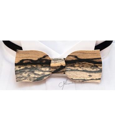 Bow tie in wood, Tulip in white Ebony - MELISSAMBRE