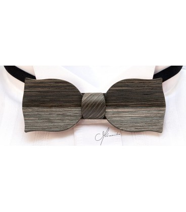 Bow tie in wood, Tulip in Marsh Oak - MELISSAMBRE