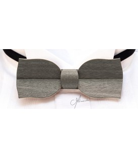 Bow tie in wood, Tulip model in grey tinted Maple