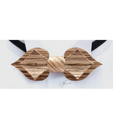 Nœud papillon en bois de Zébrano, MELISSAMBRE