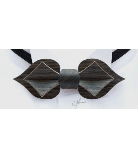 Bow tie in wood, Card in Marsh Oak, MELISSAMBRE