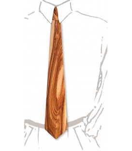 Necktie in wood, exclusive Dogwood, MELISSAMBRE®