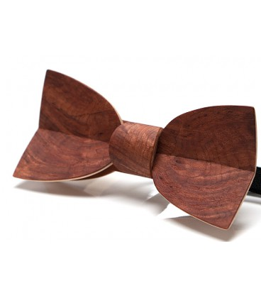 Bow tie in wood, Mellissimo in Vavona burl - MELISSAMBRE