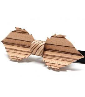 Noeud papillon bois, Feuille en Zébrano