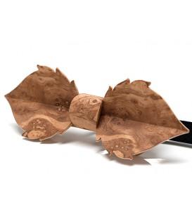 Noeud papillon bois, Feuille en loupe de Frêne-olivier
