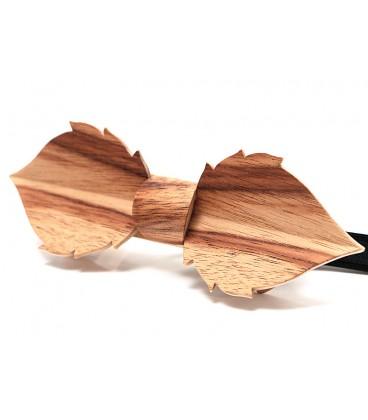 Nœud papillon en bois, Feuille en Cornouiller - MELISSAMBRE
