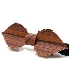 Bow tie in wood, Leaf in Rosewood