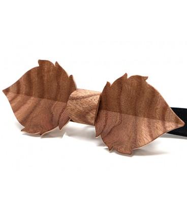 Wooden bow tie, Leaf in Elm burl - MELISSAMBRE