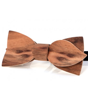 Bow tie in wood, Asymmetric in Etimoe - MELISSAMBRE