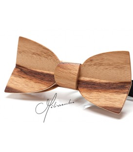 Bow tie in wood, Mellissimo in Dogwood - MELISSAMBRE