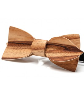 Bow tie in wood, Asymmetric in Dogwood