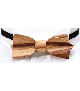 Bow tie in wood, Asymmetric in Dogwood - MELISSAMBRE