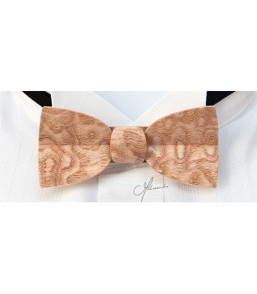 Bow tie in wood, Mellissimo in Japan Ash tree - MELISSAMBRE