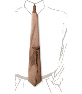 Wooden tie, French Walnut tree - MELISSAMBRE
