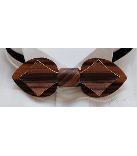 Bow Tie in Wood, Card in Macassar Ebony