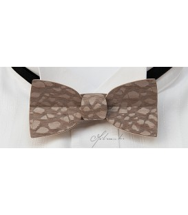 Bow Tie in Wood - Mellissimo Model in Tinted Louro-Faïa - MELISSAMBRE