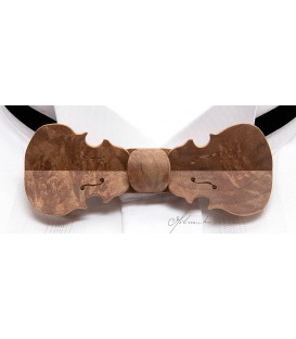 Bow tie in wood, Violin model in Madrona burl