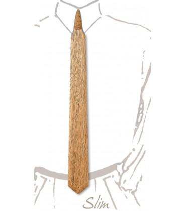Cravate slim en bois, Fraké
