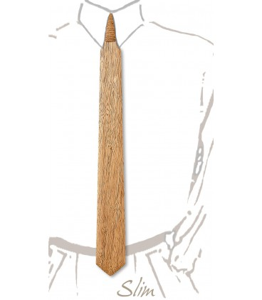 Slim necktie in wood, Korina