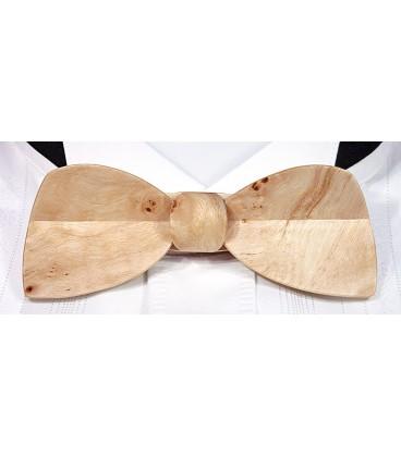 Bow tie in wood, Half-moon in Poplar burl - MELISSAMBRE