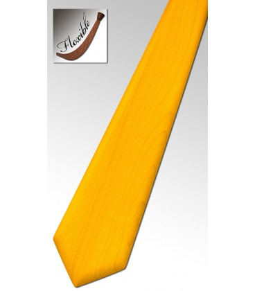 Necktie in wood yellow color