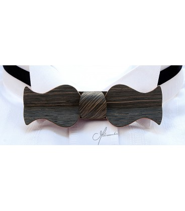 Bow tie in wood, Retro in Marsh Oak - MELISSAMBRE