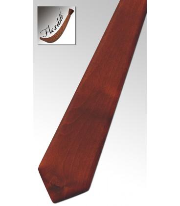 Cravate en bois couleur châtaigne