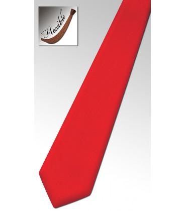 Cravate rouge en bois