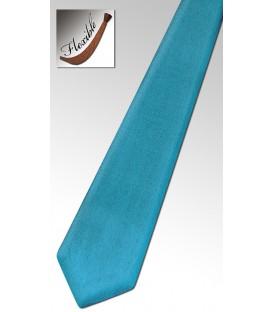 Cravate en bois teinté bleu jean's