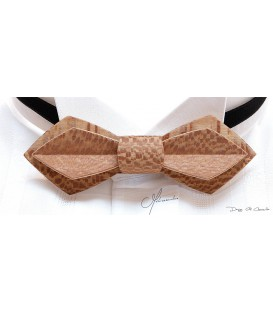 Bow tie in wood, Nib in Plane tree - MELISSAMBRE