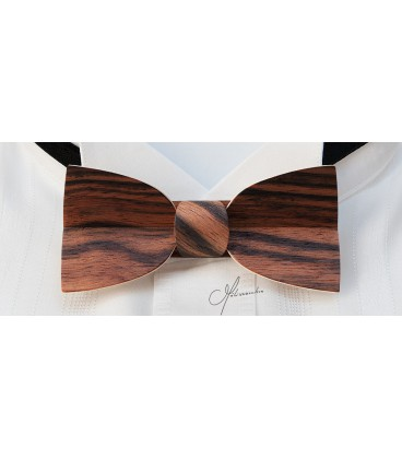 Bow tie in wood, Mellissimo in Macassar Ebony - MELISSAMBRE