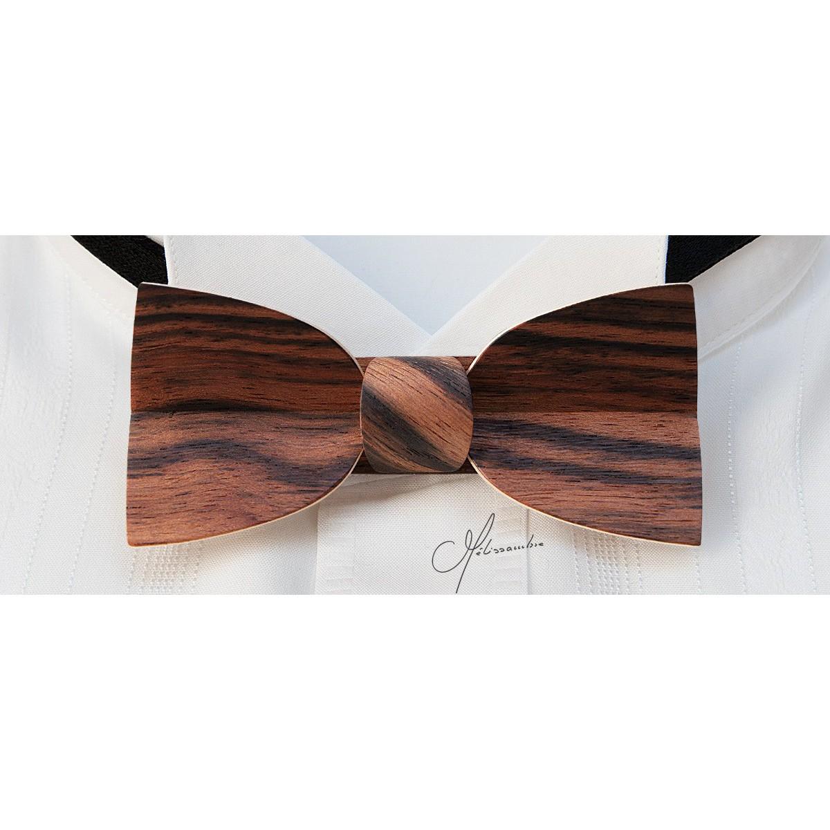 n ud papillon en bois mellissimo en eb ne de macassar melissambre le bois la mode. Black Bedroom Furniture Sets. Home Design Ideas