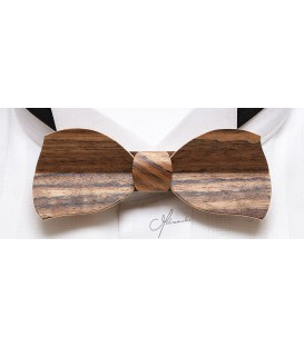 Bow tiie in wood, Butterfly in Mozambique wood - MELISSAMBRE