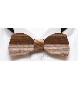 Bow Tie in Wood - Butterfly Model in Amazakoué - MELISSAMBRE