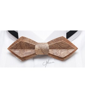 Bow Tie in Wood - Nib Model in Silvery Bubinga - MELISSAMBRE