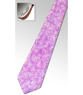 Cravate en bois teinté, Corail