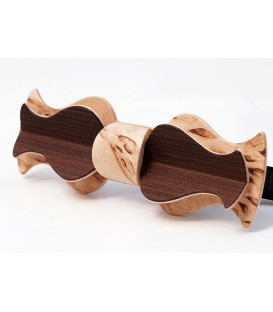 Bow tie in wood, Retro model in Birch & Larch