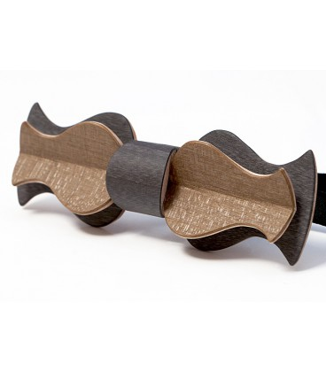 Bow Tie in Wood - Retro Model in Tinted Maple - MELISSAMBRE