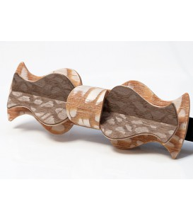Bow tie in wood, Retro model in Louro-Faïa
