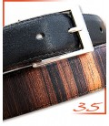The belts in wood & leather - Sportswear