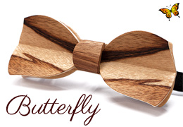 Bow Tie in Wood, Butterfly Model - MELISSAMBRE