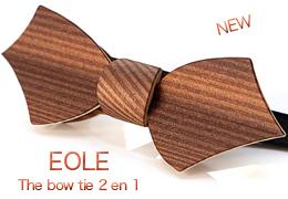 Bow tie in wood 2 in 1 - EOLE - MELISSAMBRE®