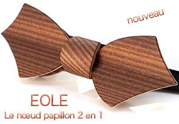 Nœud papillon en bois 2 en 1 - EOLE - MELISSAMBRE®