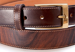 Belt in Wood & Leather - Rosewood