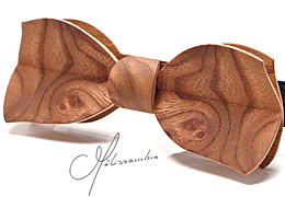 Noeud papillon en bois, loupe d'Orme - MELISSAMBRE