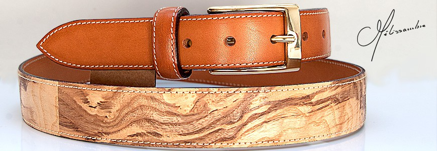 Belt in Wood -1 - MELISSAMBRE