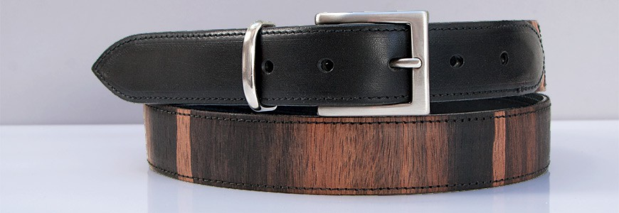 Belt in Wood - City Collection - MELISSAMBRE