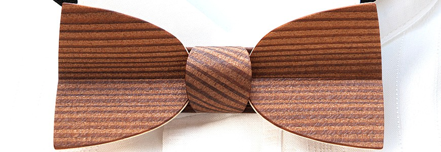 Bow Tie in Wood - The Mellissimo - MELISSAMBRE